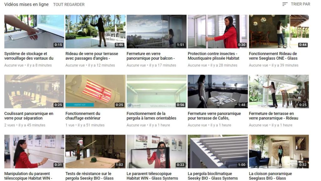 Vidéos youtube Glass Systems