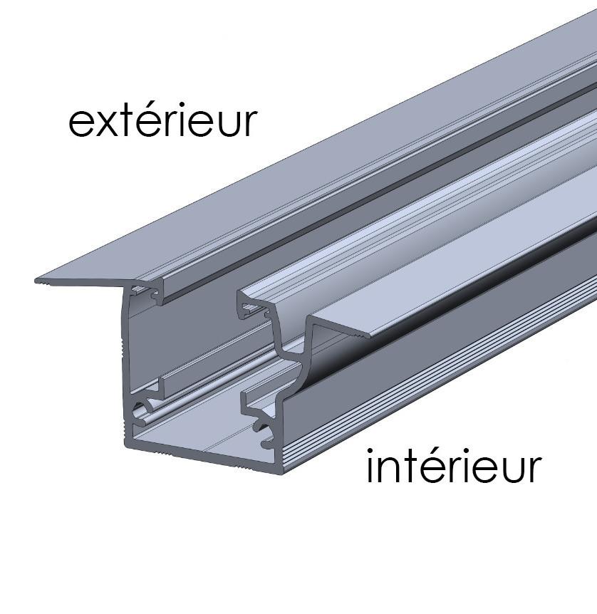 Profilé condensation rideau de verre