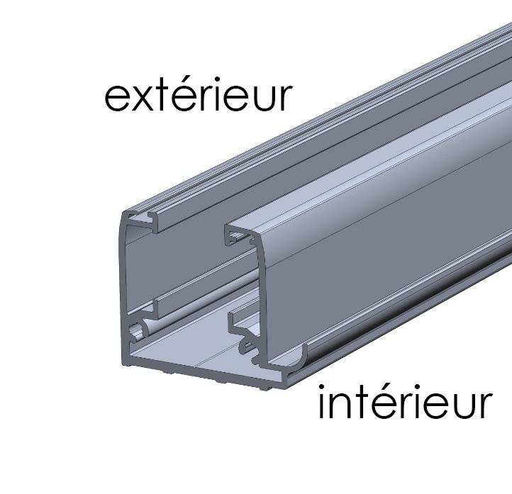Profilé récupération condensation rideau de verre