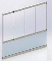 Garde corps mur de verre