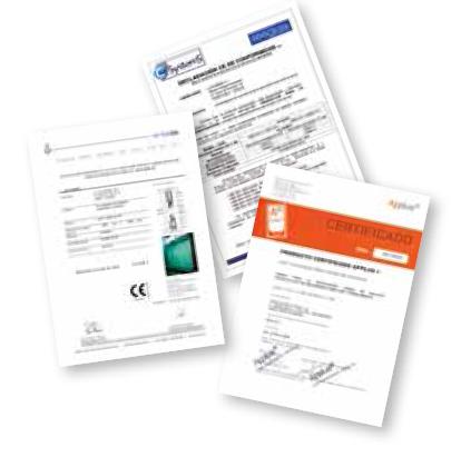 sécurité et certifications des produits