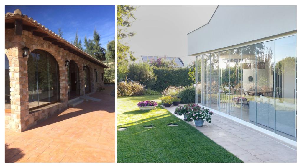Fermeture de terrasse avec rideau de verre coulissant