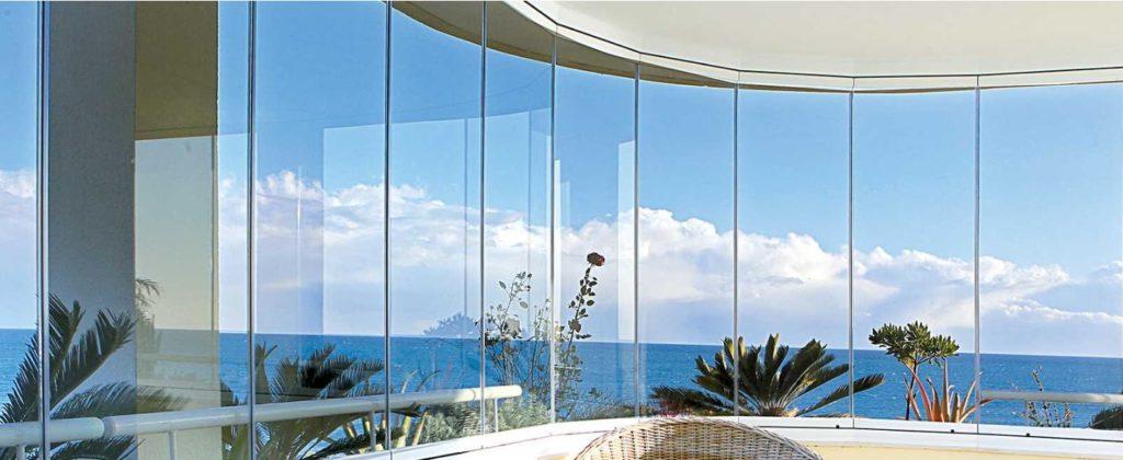 rideau de verre terrasse