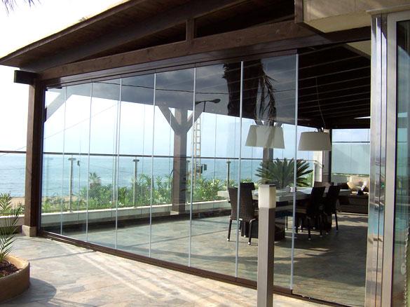 Photos de fermeture de véranda avec le Rideau de verre