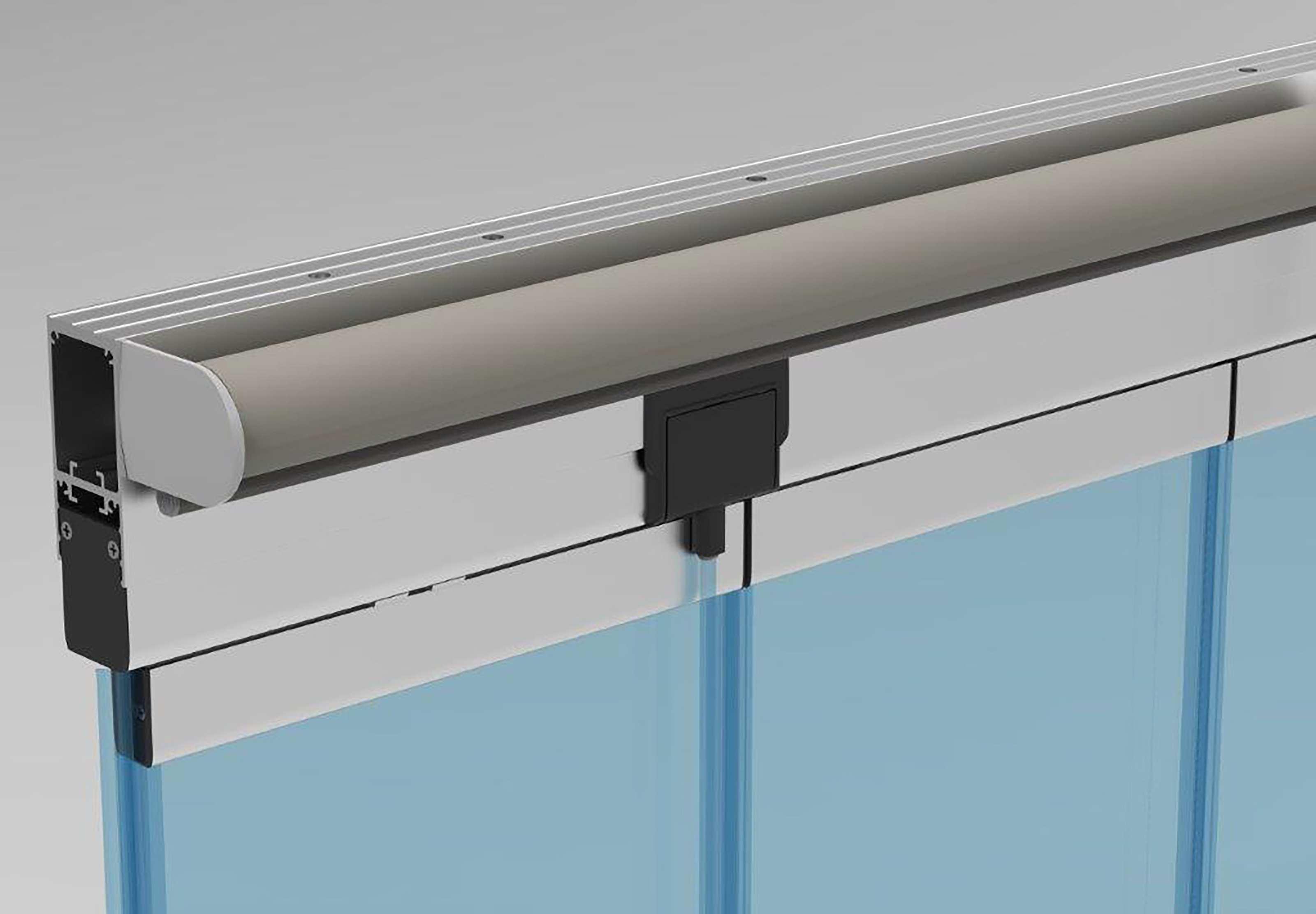 Systeme De Rideau Coulissant fonctionnement du mur rideau de verre escamotable