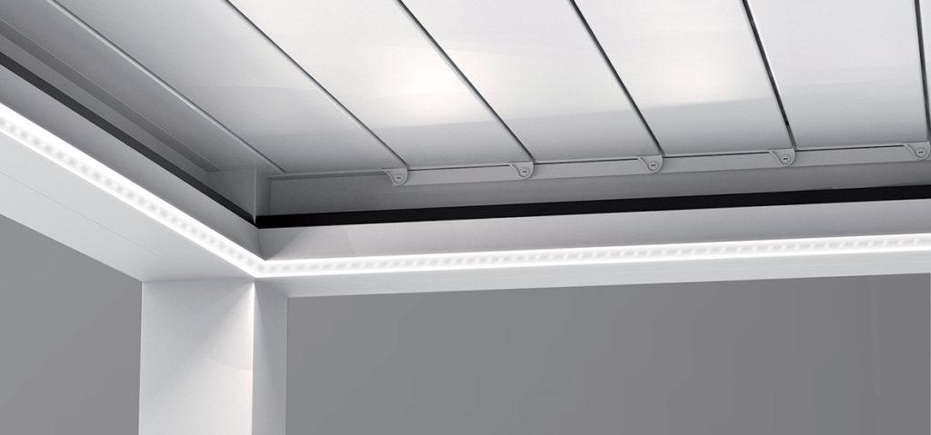Eclairage à bandeau LED pour pergola