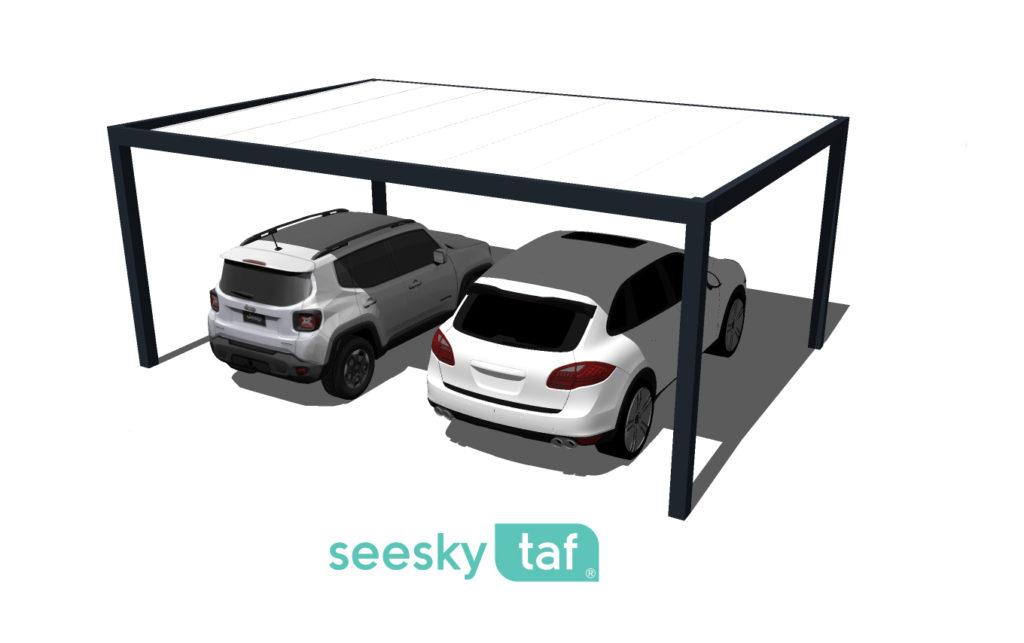La Pergola Seesky TAF pour abriter des véhicules