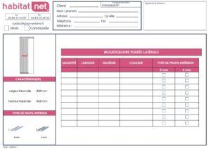 Formulaire devis commandes Habitat NET